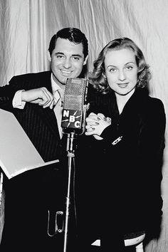 Cary Grant and Carol Lombard on NBC radio, 1939