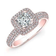 You may find out that halo style princess cut engagement rings will become so much expensive if you cannot review about the price out there to compare. Description from bromgold.com. I searched for this on bing.com/images