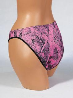 4432a77e5077 Naked North® Pink Camouflage Bikini Panties S-XL New W/ Tags 602039