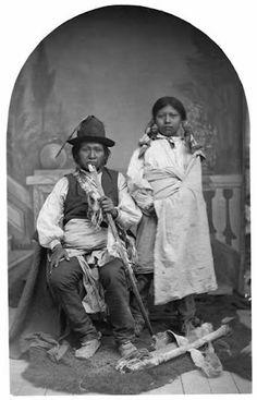 Ignacio and his son - Mescalero Apache - circa 1883