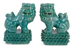 "11"" Foo Dogs, Green on OneKingsLane.com"