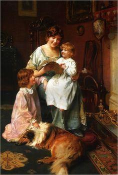 """""""Bedtime Story"""" -- by Arthur John Elsley (1860-1952)"""