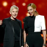 Ellen and Beyonce at the 2013 Grammys