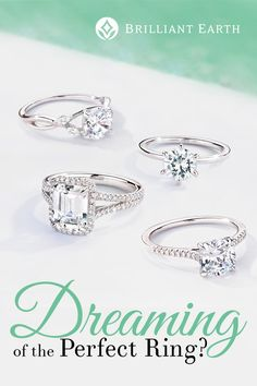 Shop engagement rings handcrafted from recycled precious metals and set with Beyond Conflict Free Diamonds™ and ethical gemstones.