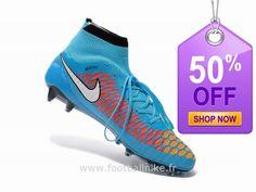 new products 34a0e 720ce Nike Magista Obra FG ACC Bleu Magista Obra Pas Cher