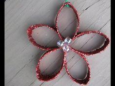 Craft Klatch ®: Christmas Flower Ornament Recycling Craft DIY
