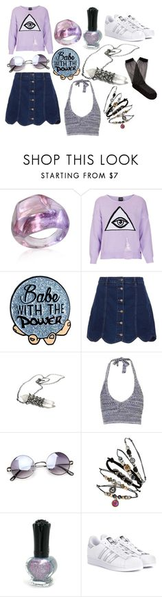 """""""Untitled #101"""" by and-he-shall-be-my-squishy ❤ liked on Polyvore featuring Antica Murrina, Topshop, Anna Sui, adidas Originals and Raey"""