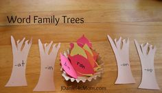Word Family Trees and other great tree, fall and reading activities at Read.Explore.Learn with JDaniel4s Mom #readit #fall #autumn