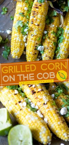 Planning for your Memorial day or 4th of July menu? Grilled Corn on the Cob is a meal that is difficult to avoid! Grilled to perfection to bring out its natural sweetness and flavor, with a touch of… Best Vegetable Recipes, Corn Recipes, Good Healthy Recipes, Vegan Recipes Easy, Side Dish Recipes, Real Food Recipes, Real Foods, Cooking Recipes, What's Cooking