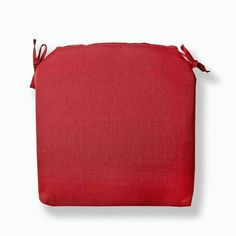 CushionGuard Chili Square Outdoor Seat Cushion by Hampton Bay Chili color #HamptonBay #Designedtofitmostwroughtironpatiochairsth
