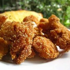 Southern Fried Catfish Nuggets This is the only way Ive ever had catfish. I cant stand to eat it fried in restaurants, it tastes muddy to me, but I can eat it this way. Catfish Nuggets Recipes, Fried Catfish Nuggets, Fried Catfish Recipes, Fish Dishes, Seafood Dishes, Seafood Recipes, Cooking Recipes, Dairy Recipes, Free Recipes