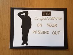 One off 'soldier' greeting card. Congratulations on 'passing out' for a son   eBay!