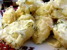 Ukranian Creamed Potatoes - a delicious recipe using real, full fat whipping cream and fresh dill, onions, and new potatoes from your garden.