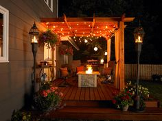 I can't wait to make the porch/deck look pretty with all the lights we string up for the house:)