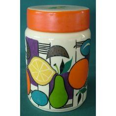 1960s Goebel Lidded Storage Jar with Abstract Fruit Design - Goebel - European and Scandinavian Ceramics - Ceramics