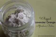 DIY Whipped Lavender Orange Aftershave Balm Recipe