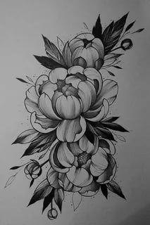 Peony Flower Tattoos, Peonies Tattoo, Pisces Tattoos, Red Tattoos, Mandala Tattoo Sleeve, Sleeve Tattoos, Floral Mandala Tattoo, Flor Oriental Tattoo, Japanese Peony Tattoo