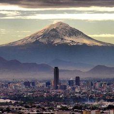 Popocatepetl volcan, México