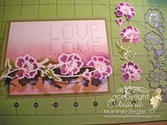 flower border edge card  using Partial die cutting