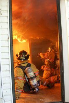 Interior attack! #firefighting