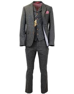 Love a tweed suit and early 20thC styling. There's no way he'd want to wear tweed is there! This 1920s with a-sprinkle-of-1960s-mod suit isn't great plus is very cheap but a point of inspiration!