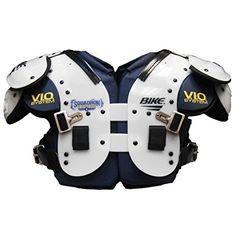 e728d99fa09 Bike Squadron Series Flat Multi-Purpose Football Shoulder Pads - White  Extra Large