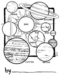 The Solar System Coloring Pages from Solar System Coloring Pages for Kids. We've collected some beautiful coloring pictures of the universe for you. On this page, there is a solar system coloring pages for you. Planet Coloring Pages, Space Coloring Pages, Coloring Sheets For Kids, Coloring Pages To Print, Free Printable Coloring Pages, Coloring Pages For Kids, Kids Coloring, Coloring Rocks, Colouring