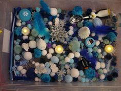 winter sensory table for children