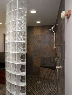 How to Install a Glass Block Shower Wall Enclosure in a Bathroom