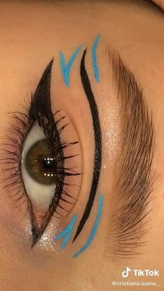 Dope Makeup, Indie Makeup, Edgy Makeup, Eye Makeup Art, Crazy Makeup, Makeup Tutorial Eyeliner, No Eyeliner Makeup, Skin Makeup, Eyeliner Ideas
