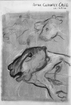 Tim Dayhuff - drawings - after Chauvet Cave