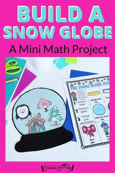 Are you looking for a fun. standards-based math project for your 2nd grade students to complete this holiday season? This snow globe math activity is the perfect mini math project to use in the classroom during Christmas or through the Winter season. This project reviews money, addition, and place value skills. Students will shop from a menu to purchase the pieces they need to fill their snow globe.
