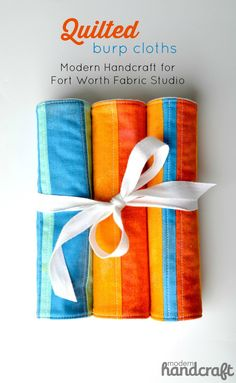 Modern Handcraft for Fort Worth Fabric Studio: Quilted Burp Cloths // A Tutorial