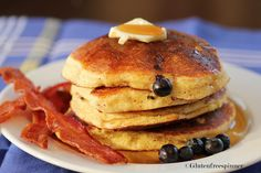 Memorial Weekend at the cabin...Blueberry Corn Cakes
