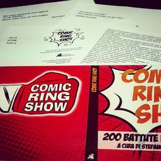 "Libro ""Comic Ring Shot"" per il Comic Ring Show"