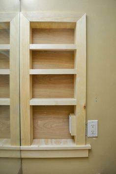 Trendy Bathroom Storage Ideas For Small Spaces Shelves Bedrooms Built In Shelves, Built In Storage, Storage Shelves, Built Ins, Storage Units, Garage Storage, In Wall Shelves, Recessed Shelves, Secret Storage