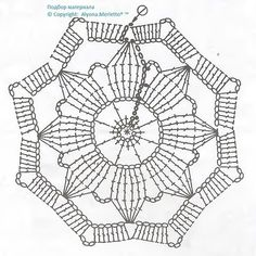 How to Crochet a Puff Flower Baby Afghan Crochet Patterns, Crochet Snowflake Pattern, Crochet Blocks, Crochet Snowflakes, Granny Square Crochet Pattern, Crochet Flower Patterns, Crochet Diagram, Crochet Chart, Crochet Squares