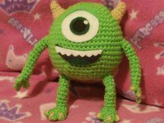 Monsters Inc, Mike Wazowski amigurumi crochet.