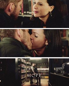 """""""What's wrong?"""" Robin Hood. """"I just owe someone a quarter."""" Regina. *sigh* they are so cute"""