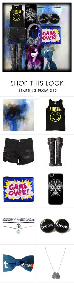 """""""Sorry for not making any sets i've been busy"""" by creepypasta-music-anime-love ❤ liked on Polyvore featuring Debora Stewart, Zoe Karssen, Retrò, Wet Seal, Beats by Dr. Dre and Dsquared2"""