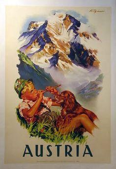 Travel Austria Vintage Poster