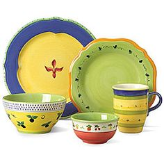 @Overstock - Pfaltzgraff Pistoulet Blue dinnerware features brightly decorated designs from the south of FranceCasual dinnerware set has freely rendered flowers, vines and vegetables40-piece stoneware set provides service for 8  http://www.overstock.com/Home-Garden/Pfaltzgraff-Pistoulet-Blue-40-piece-Dinnerware-Set/4387845/product.html?CID=214117 $199.99