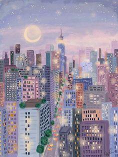 Seasons of New York City Illustrator, Cute Illustration, New York Illustration, Aesthetic Art, Cute Wallpapers, Cute Art, Pretty Art, Aesthetic Wallpapers, Art Inspo