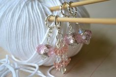 So much prettier than basic store bought stitch markers.