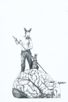 Mari Oseland (Norwegian, based Trondheim, Norway) - 1: The Small Arms, 2014 2: Hate Sonnet 3: There Was Someone On My Brain, 2014 4: I Will Pull Your Hair Back, 2013 5,6:Mutation Frustration, 2013  Drawings: Pencil on Paper