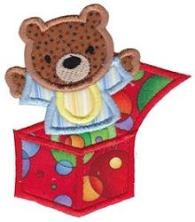 Baby Bear in Box Applique - 2 Sizes! | Baby | Machine Embroidery Designs | SWAKembroidery.com Bunnycup Embroidery