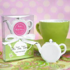 Personalized Teapot Tape Measure Favors