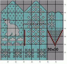 30x30 mittens wanten.png (501×480)