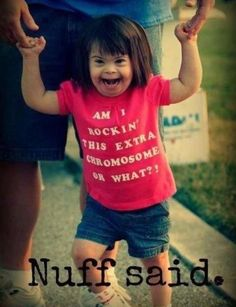 Rocking that extra chromosome // nuff said // kid // Down syndrome I Smile, Your Smile, Make Me Smile, Down Syndrome, Jolie Photo, Little Doll, Just Love, Cute Kids, Little Ones