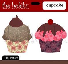 PDF Applique Template Cupcake